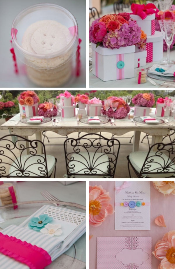 Cute as a Buttons and bows Baby Shower Ideas