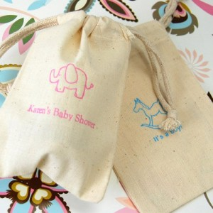 giraffe favor bags cottom bags