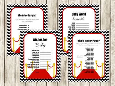 hollywood themed baby shower games and activities