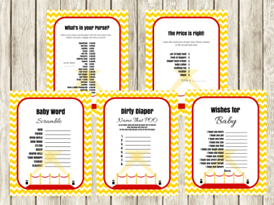 hollywood themed baby shower games