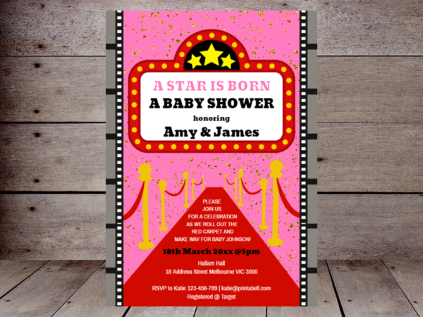 pink-a-star-is-born-baby-shower-invitation-hollywood