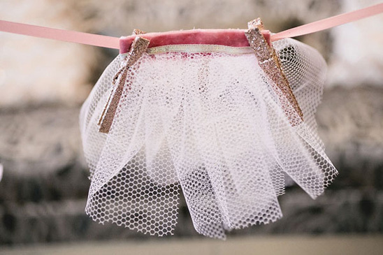 pink and gold Tutus Baby Shower