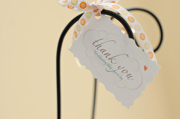 scalloped thank you tags