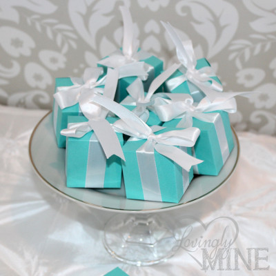 tiffany baby shower favor boxes