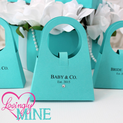 tiffany baby shower favor purse