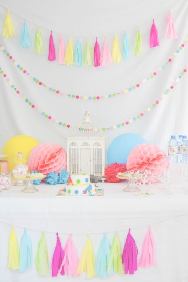 Bird Baby Shower dessert table