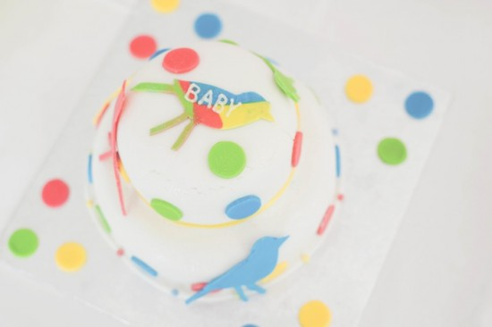 Bird Baby Shower ideas cake