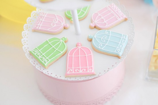 Bird Baby Shower ideas cookies