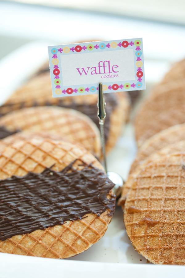 chocolate coated waffle cookies