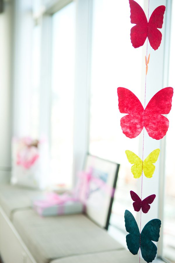 paper butterfly hanging