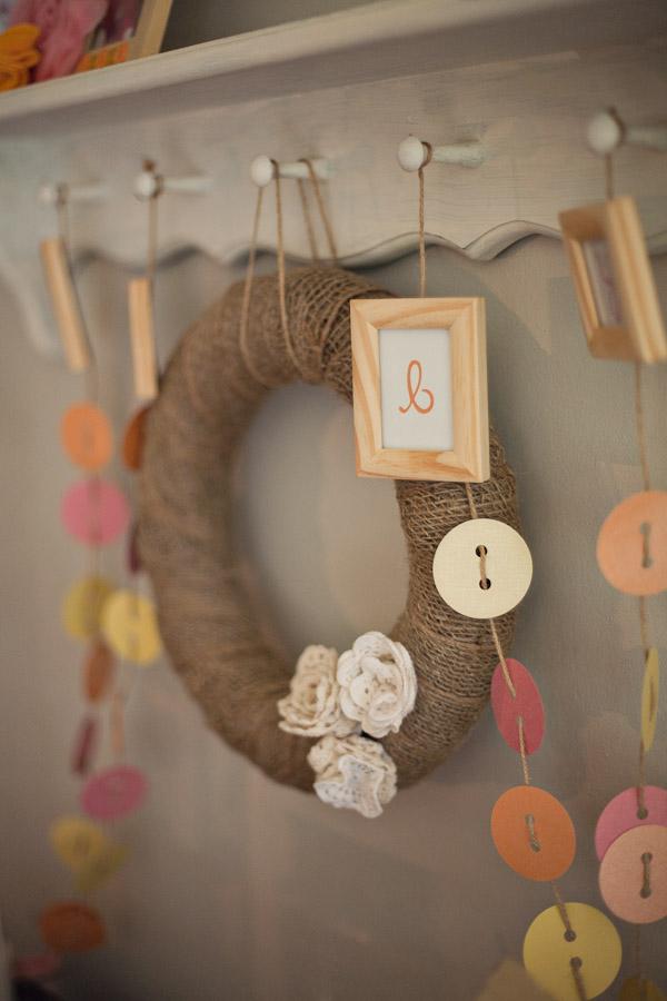 Cute as a Button Baby Shower wreath 2