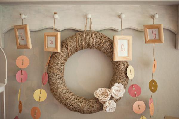 Cute as a Button Baby Shower wreath
