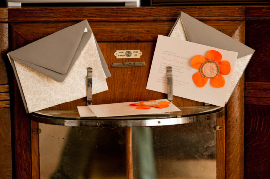Gorgeous Orange and Gray Baby Shower