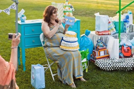 Green Blue Owl Baby Shower (14)