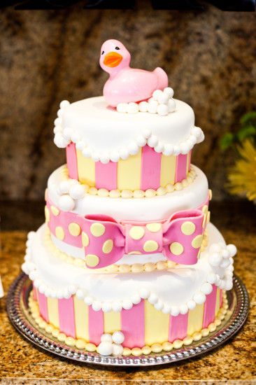 Pink Rubber Ducky Baby Shower cake
