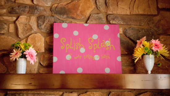 Pink Rubber Ducky Baby Shower splish spash sign