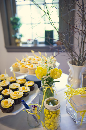 Yellow Grey Airplane Baby Shower decoration (4)