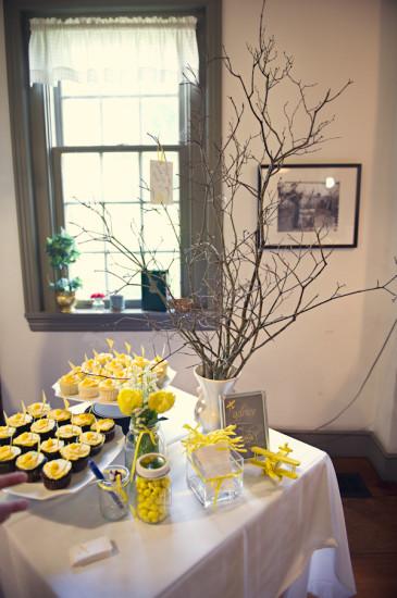 Yellow Grey Airplane Baby Shower decoration (7)