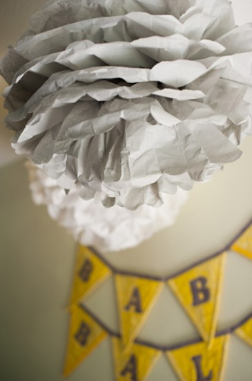 Yellow Grey and White Baby Shower ideas