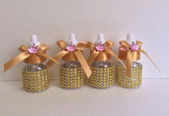princess themed baby shower favor bottles