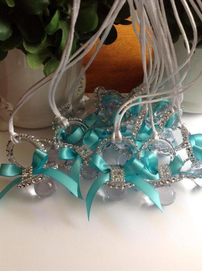 tiffany themed baby shower pacifier game