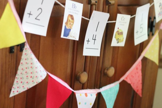Alphabet Old Schoolhouse Themed Baby Shower banner