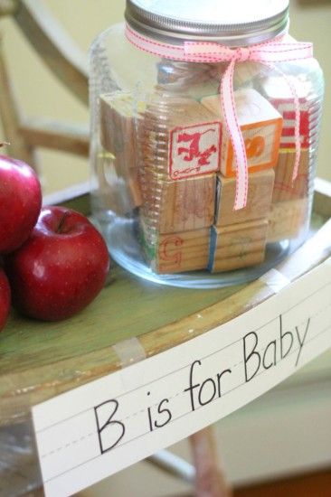 Alphabet Old Schoolhouse Themed Baby Shower