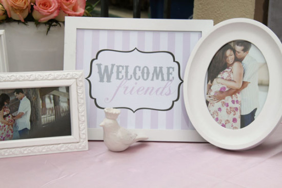Baby Pink and Gray Baby Shower