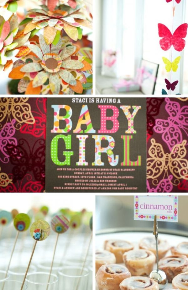 Butterfly inspired Baby Shower tablescape
