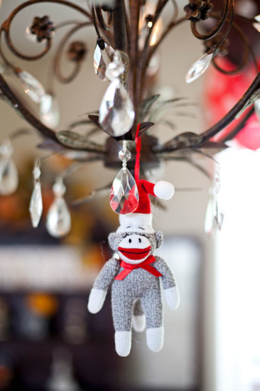 Classic Sock Monkey Baby Shower decor