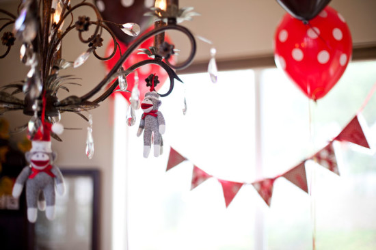 Classic Sock Monkey Baby Shower decorations