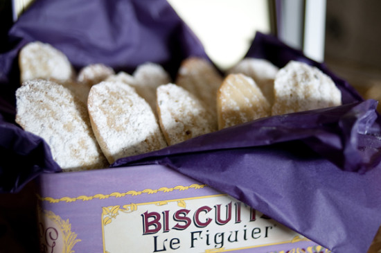Lavender Themed Baby Shower biscuits from france