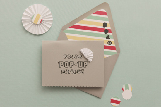 Polar Pop-up Potluck Baby Shower invitation