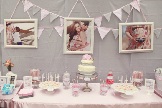 Pretty in Pink and Gray Baby Shower (4)