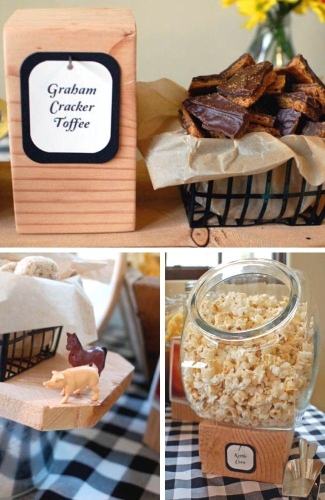 Stout Baby Farm Theme Tablescape