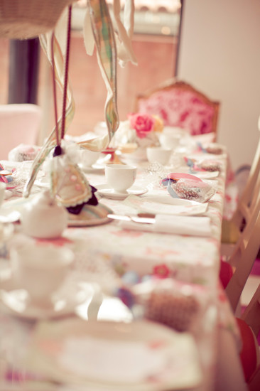 Sweet Tea Time Baby Shower table setting