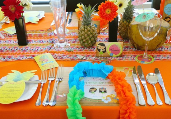 aloha table setting