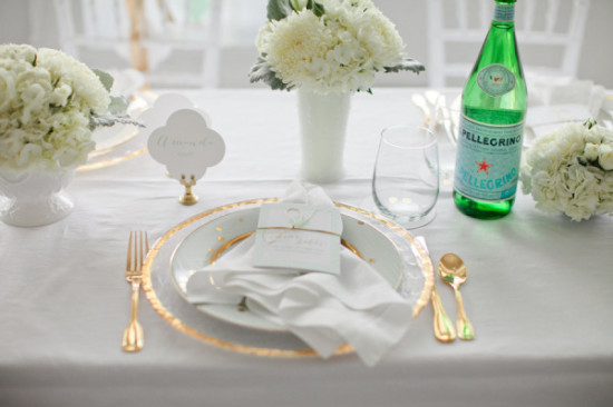 gold plates and cutlery