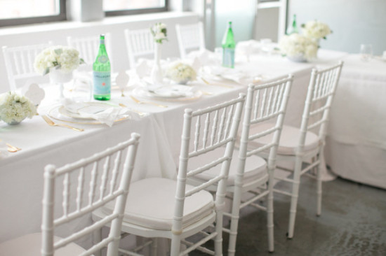 lovely table setting for Baby Shower for Twin Boys