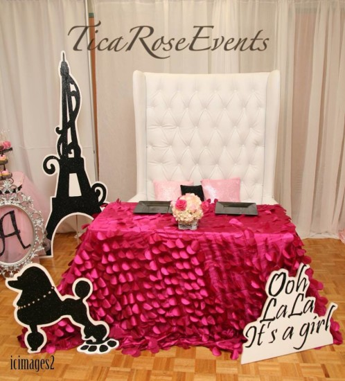 mommy to be pink table