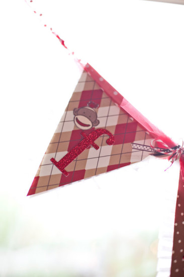 sock monkey banner