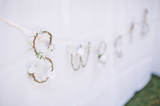 sweets sign made of twigs