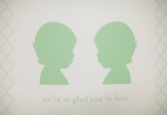 we're so glad you're here sign in mint green