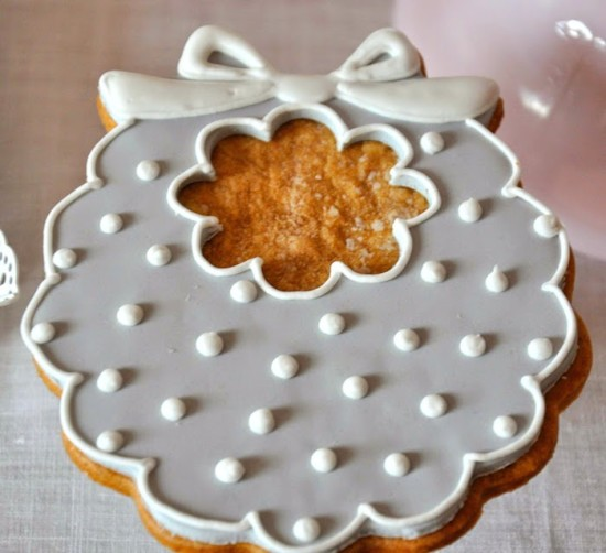 grey white polka dots baby bib cookies