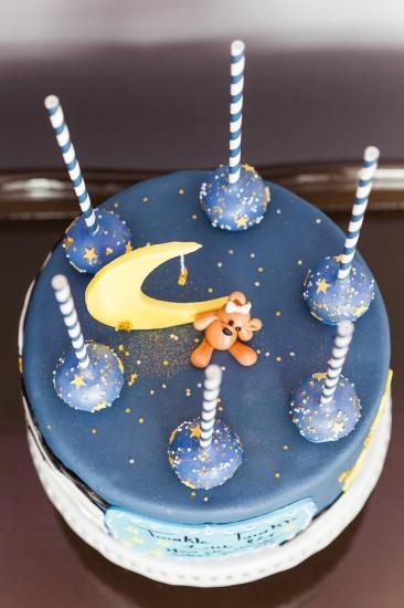 Twinkle Twinkle Little Star Gender Reveal cake