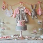 Beautiful Pink and Gray Baby Shower