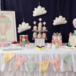 Colorful Hot Air Balloon Baby Shower