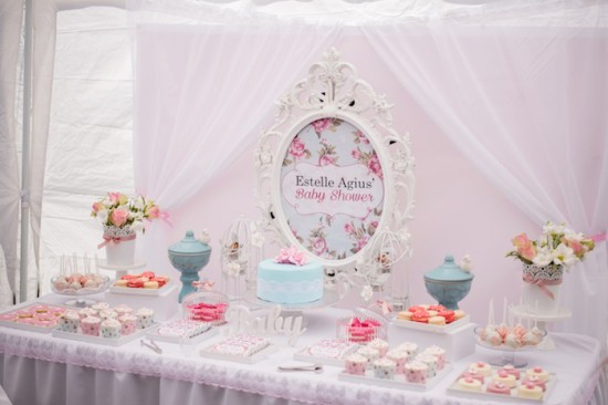floral shabby chic table