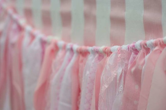 Pink Baby Sprinkle Shower decoration ideas tassels