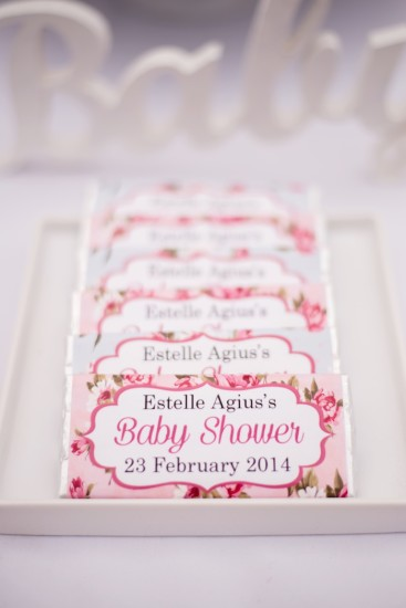 personalized shabby chic chocolate wrappers